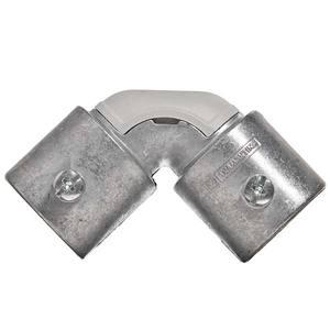 Conector Curvo Alumínio sem Rosca Diâmetro 3/4 Polegada Comprimento Total 68 mm