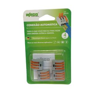 Conector de Emenda Tripolar 4mm Wago