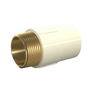 "Conector Macho CPVC Roscável e Liso Água Quente e Fria 28mm ou 1"" Tigre"