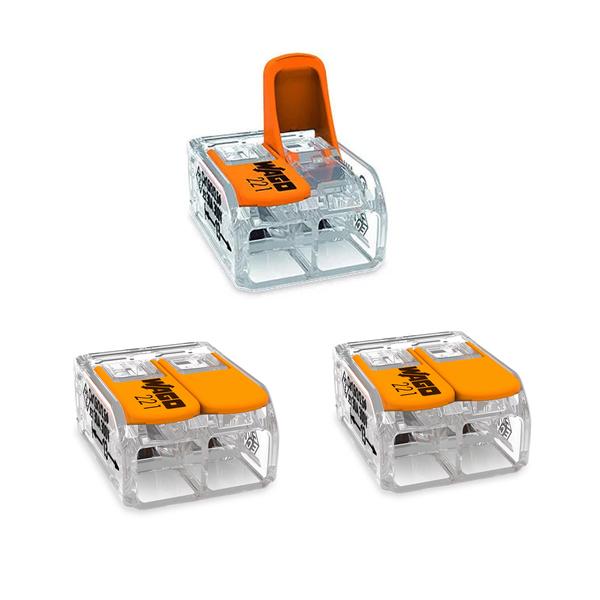 Conector Para Chuveiros Linha 221 3 Unidades Wago