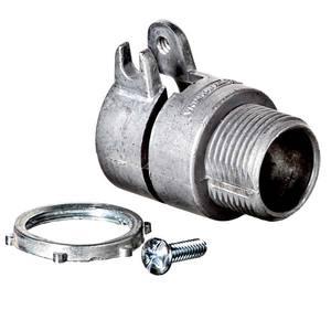 Conector Reto Alumínio com Rosca Diâmetro 3/4 Polegada Comprimento Total 48 mm
