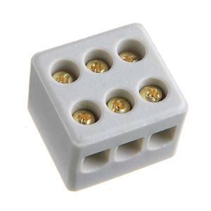 Conector Tripolar Cerâmica Branco 250V 30A Incer Morumbi