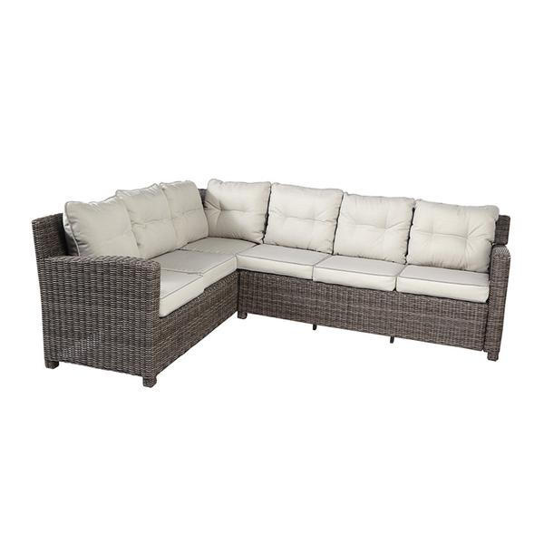 Sofa Aluminio Com Fibra Sintetica Medina Bege E Marrom Leroy Merlin
