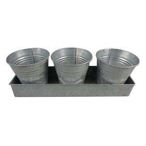 Conjunto 3 Vasos Metal Importado