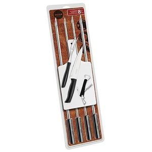 Conjunto Churrasco Aço Inox 8 peças 74,5cm Tramontina