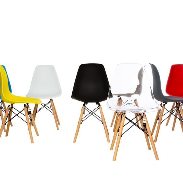 Conjunto Com 4 Cadeiras Dkr Polipropileno Base Eiffel Madeira Cafe   Leroy Merlin