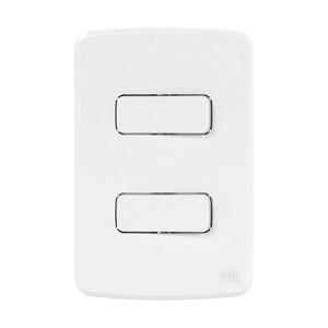 Conjunto de 2 Interruptor Paralelo 10A/250V 4x2 Composé Branco WEG