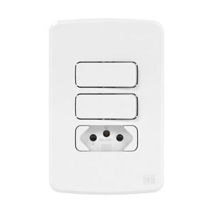 Conjunto de 2 Interruptor Paralelo+ Tomada 20A 4x2 Composé Branco WEG
