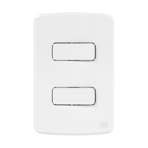 Conjunto de 2 Interruptor Simples 10A/250V 4x2 Composé Branco WEG
