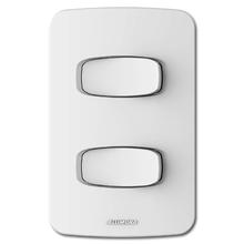 Conjunto de 2 Interruptores Simples 10A 4x2 Branco Gracia