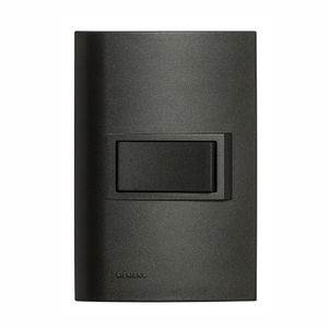 Conjunto de 2 Interruptores Simples 10A Vivace Carbono Siemens