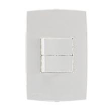 Conjunto de 2 Interruptores Simples Branco Lille Lexman