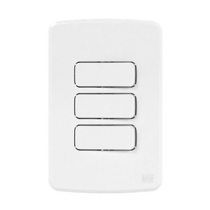 Conjunto de 3 Interruptores Simples 10A/250V 4x2 Composé Branco WEG