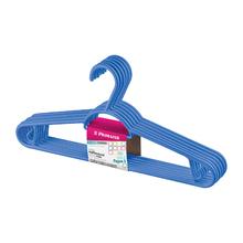 Conjunto de Cabides Leve 6 Pague 5 Plástico Azul Sanremo