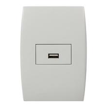 Conjunto de Carregador USB Bivolt 1,5A Branco Ilus Siemens