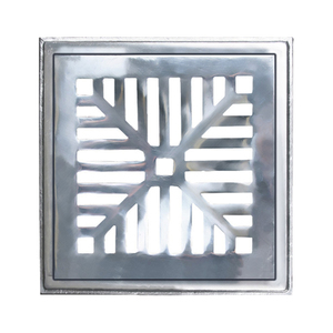 Conjunto de Grelha Côncava Leve Alumínio Escovado 15,7x15,7x1,4cm