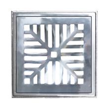 Conjunto de Grelha Côncava Leve Alumínio Escovado 20,7x20,7x1,8cm