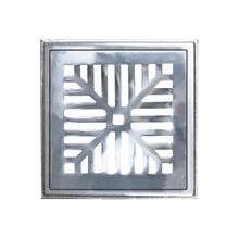 Conjunto de Grelha Côncava Leve Alumínio Escovado 25,7x25,7x2,2cm