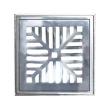 Conjunto de Grelha Côncava Leve Alumínio Escovado 30,7x30,7x2,6cm