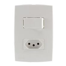 Conjunto de Interruptor de Energia Branco Lille Lexman