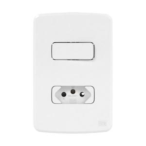 Conjunto de 1 Interruptor Paralelo+ Tomada 20A 4x2 Composé Branco WEG