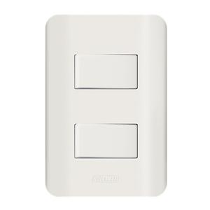 Conjunto de Interruptor Simples 10A Branco Canoa Romazi