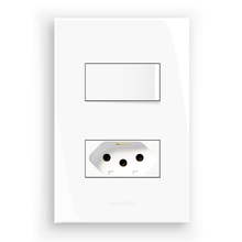Conjunto de Interruptor Simples 10A Branco InovaPro Alumbra