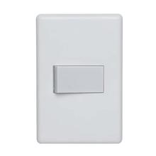 Conjunto de Interruptor Simples 10A Branco Stella Steck