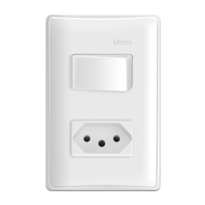 Conjunto de Interruptor Simples 20A Branco S19 Simon