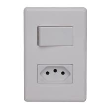 Conjunto de Interruptor Simples 20A Branco Stella Steck