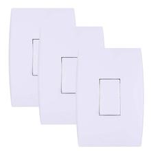 Conjunto de Interruptor Simples 3 Unidades Ilus
