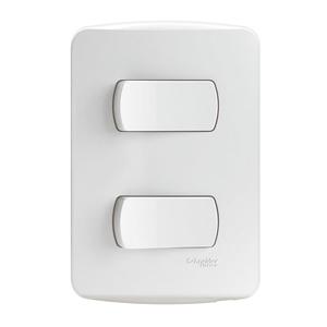 Conjunto de Interruptor Simples Branco 10A Branco Miluz Schneider