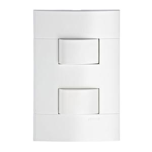 Conjunto de Interruptor Simples Branco 10A Prime Lunare Schneider