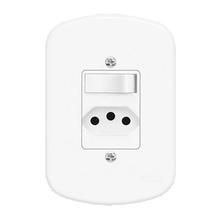 Conjunto de Interruptor Simples Branco Blanc Fame