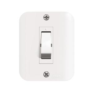 Conjunto de Interruptor Simples Branco Jeri Romazi
