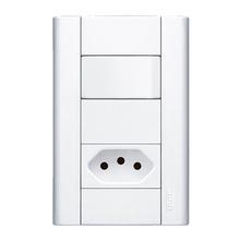 Conjunto de Interruptor Simples Branco Modulare Fame