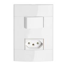 Conjunto de Interruptor Simples Branco Prime Decor Schneider