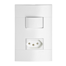 Conjunto de Interruptor Simples Branco Prime Lunare Schneider