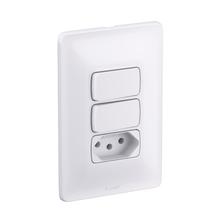 Conjunto de Interruptor Simples Branco Zeffia Pial Legrand