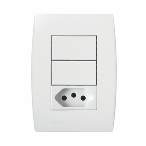 Conjunto de Interruptor Simples Ilus Siemens
