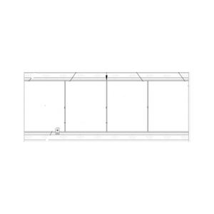 Conjunto De Perfis Para Kit Sacada 08mm Com 4 Glass Vale