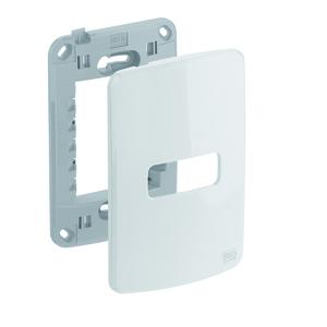 Conjunto de Placa+Suporte 4x2 1 POS Composé Branco WEG