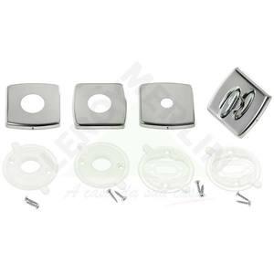 Conjunto de Rosetas para Banheiro Aço Inox Cromado Prata 84 Arouca