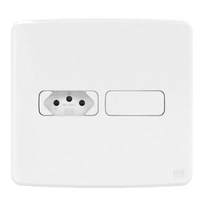 Conjunto de 1 Tomada 2P+T 10A/250V 4x2 Composé Branco WEG
