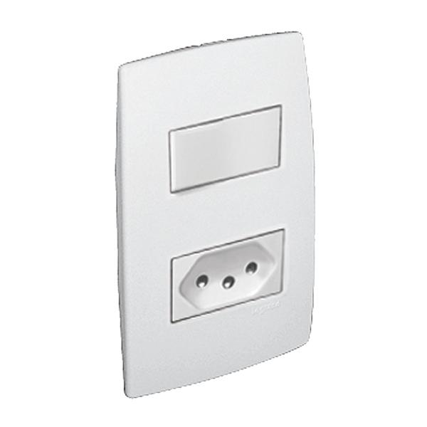 Conjunto de interruptor simples com tomada energia branco - Leroy merlin interruptores ...