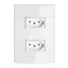 Conjunto de Tomada Energia 10A Branco Prime Decor Schneider