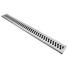 Conjunto Grelha Alumínio Escovado 10x100cm Costa Navarro