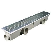 Conjunto Grelha Aluminio/Caixa Coletora Polido 96x14cm Costa Navarro