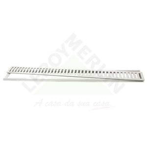 Conjunto Grelha e Porta Grelha Alumínio Branco 10X100cm LG Mais