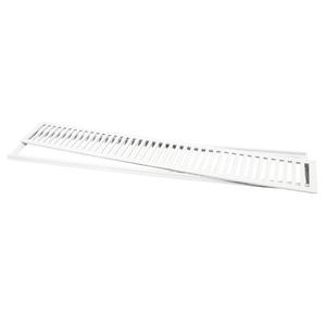 Conjunto Grelha e Porta Grelha Alumínio Branco 15x100cm Lg Mais
